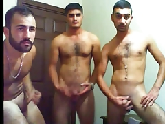 three handsome turks enjoy in cam!