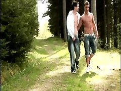 Horny Twinks Fucking Bare In The Woods