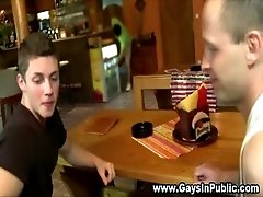Twink rams in public bar