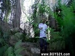 Twink video Amongst the tall redwood trees, Chris finds a isolated