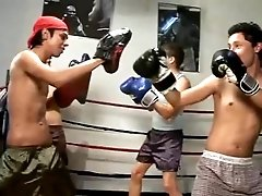 Four teen latin boys in the ring