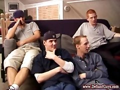 Four skater twinks get horny and undress