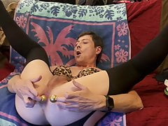 Sexy Logan Male Stripper Finger Fucks His Ass in Stockings