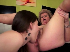 Grannies and Teens Lesbian Sex Compilation