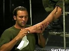 Foot loving soldiers love to suck feet and toes and fuck