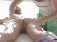 she comes for the massage so she gets fucked hard