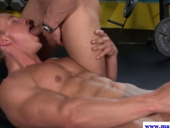 Beefy straight dude being throatfucked