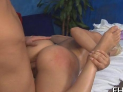 blonde babe has a nice massage to enjoy