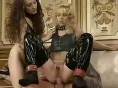 Two Dirty Whores Pleasing A Hard Cock