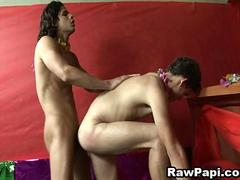 Latino Gays Bareback Sex In Bar