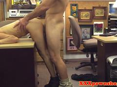pawnshop amateur bent over desk and fucked film