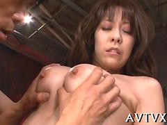 brunette Asian slut getting her sexual desires tamed down