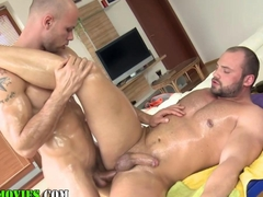 Straight masseur ass fuck