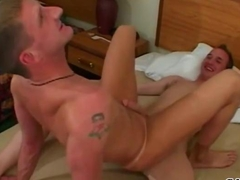 Gay twink gets his ass nailed doggy style