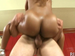 very hot black babe gets her cunt dick explored