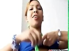 Sweet Latin Teen Strips And Masturbates