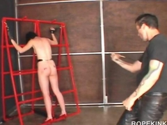 BDSM sex slave in chains tortured hardcore
