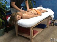 Massage therapist seduces a hot teen with his skillful hands