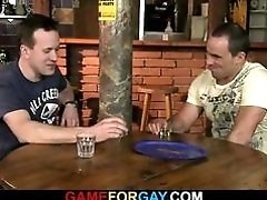 Gay play in the bar