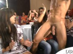 clapping as the stripper makes his appearance