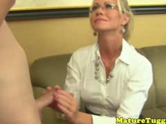 Mature doctor milf with tattoos tugging