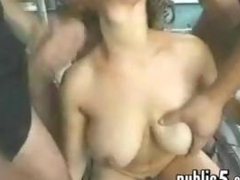 Whore In A Foursome Outside In Public