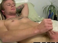 hot hunk is jerking off the fat dick real fucking well