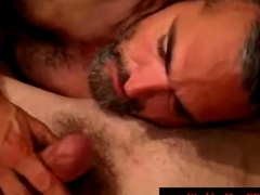 Mature straight bear tastes friends cock