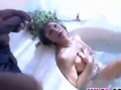 Mature Woman Has Sex In The Bathroom
