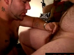 Straight redneck mature bear gets jizzed