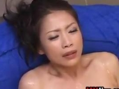 Wet Japanese Whore With Two Men Having Fun