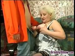 Blonde Granny Enjoying Some Hard Cock