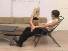 Beautiful Blonde Russian Being Fingered