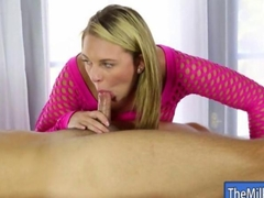 Huge tits blonde masseuse Brooke Wylde pounded and jizzed on