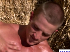 Beefy straight guy riding cowboys big dick