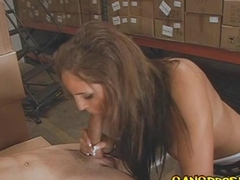 brunette lass gets to be fucked and she sucks it