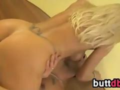 Sexy Blonde Chick Takes It In The Butt