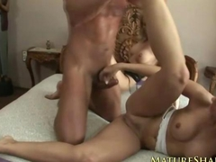 Two Housewives Fucking Hunk