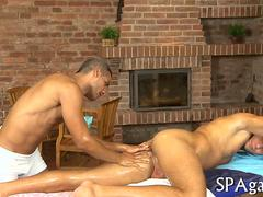 gay dude gets to be massaged and loves the session