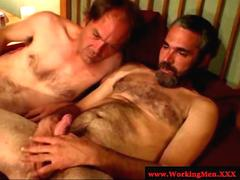 Gaysex hairy bikers suck and tug