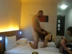 Hot Chick fucked by two lucky stallions