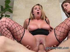 Brooke Has Her Turn After Dillion As She Gobble Up Huge Cock