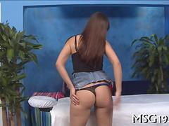 Brunette humped by her pervy masseur