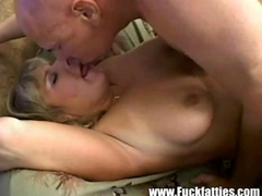 Chubby Blonde Housewife Receives Good Tongue Fucking
