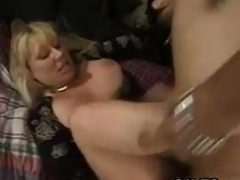 blonde mature lady is sucking and sucking good