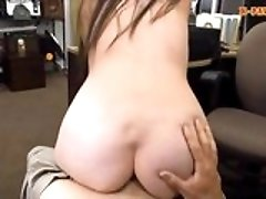 big ass placed on a huge dick in close up