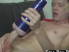the dude is having a good time with a flesh light