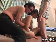 pretty asian hottie licking cock film