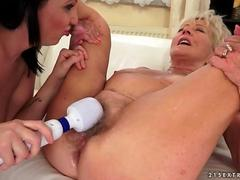 grannies and young girls lesbian compilation movie