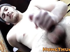 Lusty prick lover Daniel Delong has solo fun outdoors